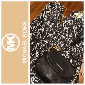 Michael Kors tank blouse with gold chain straps